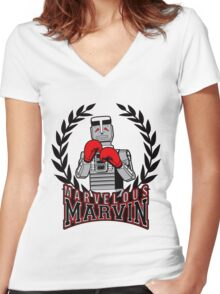 Marvelous Marvin Women's Fitted V-Neck T-Shirt