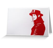 Jack White/The White Stripes Greeting Card