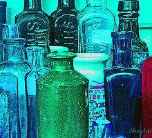 Antique Glass Bottles by RebekahShay