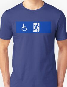 ISO 21542, ISO 7010 Exit Sign with Wheelchair Symbol T-Shirt