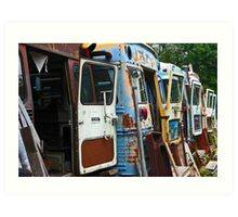 Old School Buses Art Print