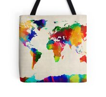 Map of the World Map Painting Tote Bag