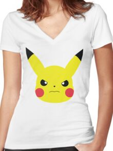 rage pika. Women's Fitted V-Neck T-Shirt