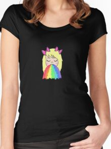 Rainbow Barf Women's Fitted Scoop T-Shirt