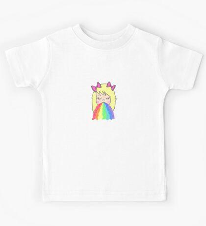 Rainbow Barf Kids Tee