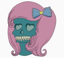 Heart Skull Girl by Angel Szafranko