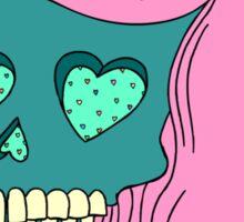 Heart Skull Girl Sticker