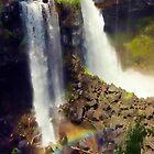 Canum Lk Falls by Randy Giesbrecht