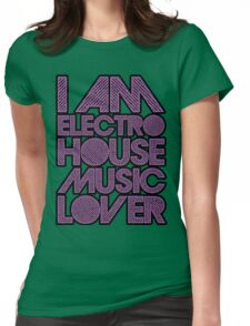 I AM ELECTRO HOUSE MUSIC LOVER (PURPLE) Womens Fitted T-Shirt