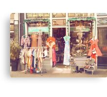 Vintage Fashion Shop Canvas Print