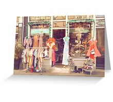 Vintage Fashion Shop Greeting Card