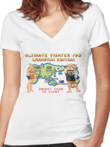 Ultimate Fighter 193 Rousey vs Holm Women's Fitted V-Neck T-Shirt