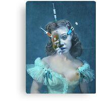 Portrait of a Female Futurist 3. Canvas Print