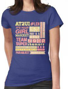 "iisuperwomanii ""retro"" collage Womens Fitted T-Shirt"