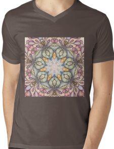 Vintage floral  pattern Mens V-Neck T-Shirt