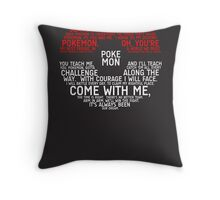 Pokemon Typography Throw Pillow