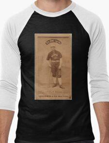 Benjamin K Edwards Collection Emil Geiss Chicago White Stockings baseball card portrait Men's Baseball ¾ T-Shirt