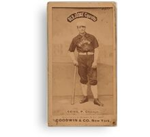 Benjamin K Edwards Collection Emil Geiss Chicago White Stockings baseball card portrait Canvas Print