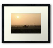 Evening Sun, Amble, North East England. Framed Print