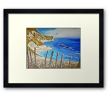 Man O War - from the cliff top. Framed Print