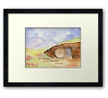 Easter Joy - Matthew 28:6 Framed Print