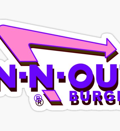 Futuristic In-N-Out Sticker