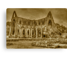 Tintern Abbey sepia HDR  Canvas Print