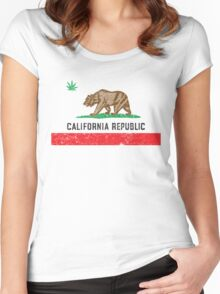 Vintage California Cannabis Women's Fitted Scoop T-Shirt