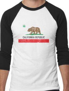 Vintage California Cannabis Men's Baseball ¾ T-Shirt