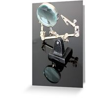 Triple Grip Third Hand With Magnifyer 2 Greeting Card