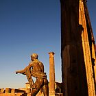 Statue of Apollo in the temple of Apollo, ruins of Pompeii by buttonpresser