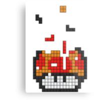 Super Mario Mushroom Pixel Metal Print
