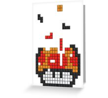 Super Mario Mushroom Pixel Greeting Card