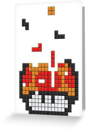 Super Mario Mushroom Pixel by tombst0ne