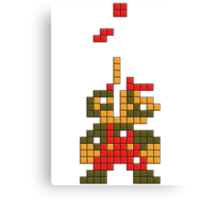 Super Mario Pixel  Canvas Print
