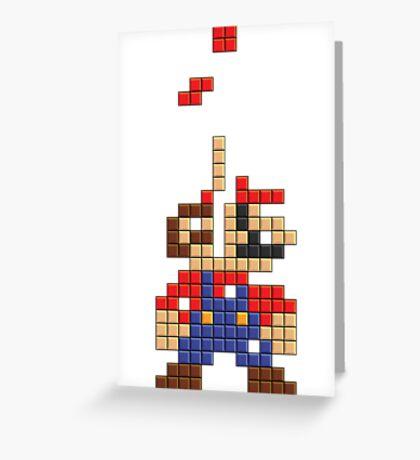 Super Mario Pixel Greeting Card