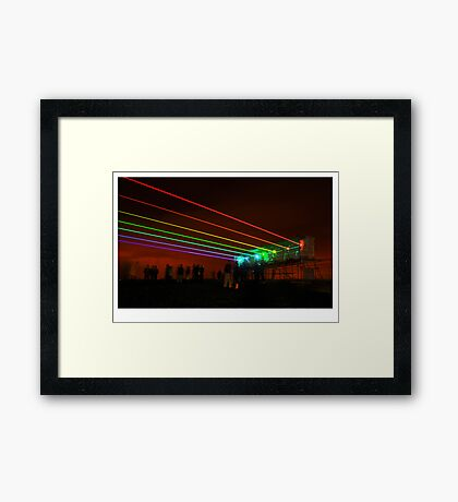 Light saber gatling gun Framed Print