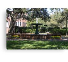 Fountain at Greene Square Canvas Print