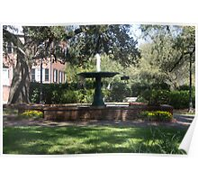 Fountain at Greene Square Poster