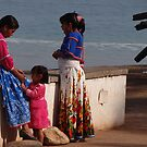 Three Proud Huichol Ladies - Tres Mujeres Huichol Orgullosas by Bernhard Matejka