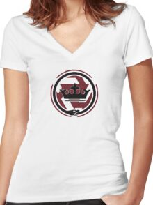 MW3 Inner Circle Women's Fitted V-Neck T-Shirt