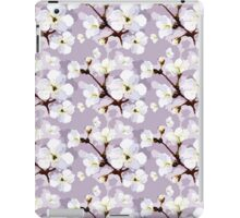 Chic vintage white lilac trendy blossom floral iPad Case/Skin