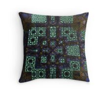 Alien Research Complex Throw Pillow
