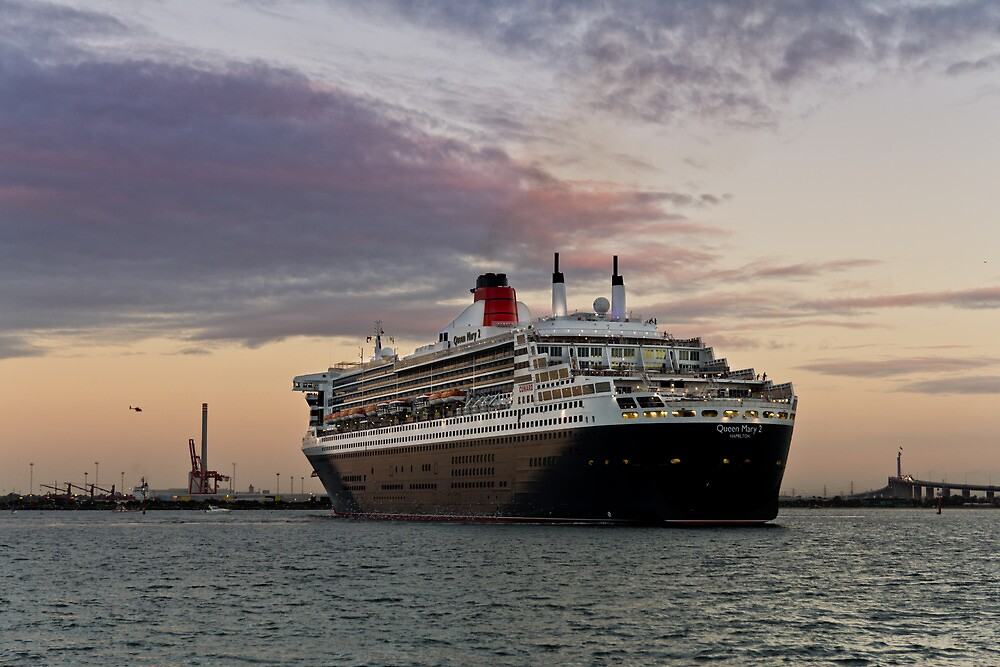 Queen Mary 2 Visits Melbourne by Russell Charters