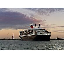 Queen Mary 2 Visits Melbourne Photographic Print