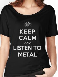 Keep Calm And Listen To Metal Women's Relaxed Fit T-Shirt