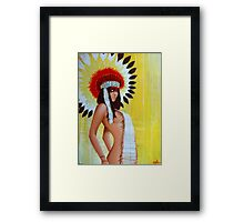 Feathers and Furs Framed Print
