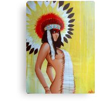 Feathers and Furs Metal Print