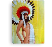 Feathers and Furs Canvas Print