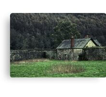 Cottage on the corner Canvas Print